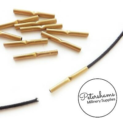 £2 • Buy Brass Metal Wire Joining Ferrules For Millinery Hat Wire (10 Pieces)