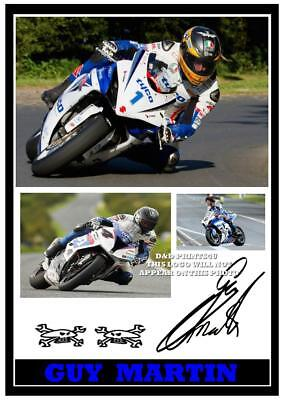 061  Guy Martin  Tt Signed Reproduction Print Size A4 • 4.69£