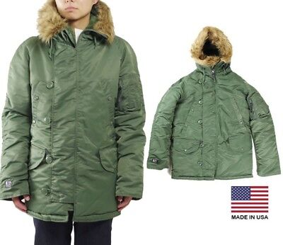 $ CDN282.36 • Buy Made In USA New N-3B Alpha Industries Army Military Cold Weather Parka OD Green