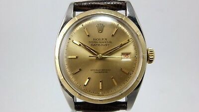 $ CDN5947.87 • Buy Rolex Vintage Stainless Steel & 14k Gold Bubbleback Datejust 6075
