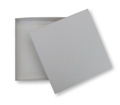 1 WHITE 8 X8 INCH BOXES, GREETING CARD GIFTS LINGERIE JEWELLERY • 2.49£