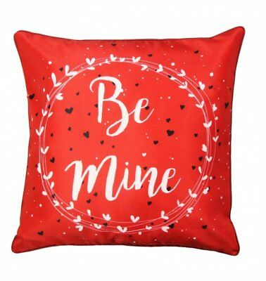 Red Valentine Love Cushion Super Filled Pillow 'Be Mine' • 4.29£