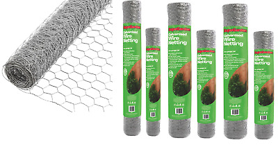 Galvanised Wire Netting Mesh Aviary Fencing Fence Chicken Rabbit 13mm 25mm 50mm  • 17.50£