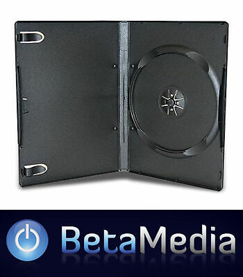 AU41.50 • Buy 100 X Single Black 7mm Slim Quality CD DVD Cover Cases - Slimline Spine Case