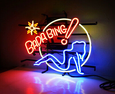 $ CDN142.73 • Buy BADA BING Hot Girl Vintage Boutique Workshop Real Glass Neon Sign Light Beer Bar