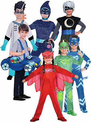 Boys PJ Masks Costume Boys Girls Superhero Fancy Dress Official Book Week Outfit • 21.50£