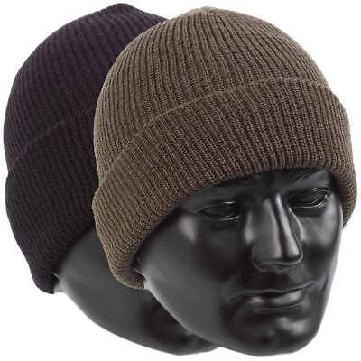 £8.95 • Buy US Army Style Watch Cap 100% Wool Warm Military Bob Hat - One Size Fits All