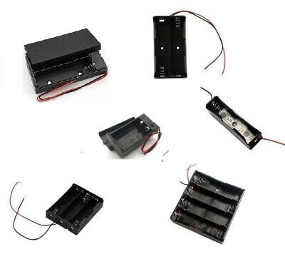18650 Battery Holder Box Case  3.7 Box  Multi Choice 1 2 3 4 Cell  9v Pp3 Uk • 2.68£