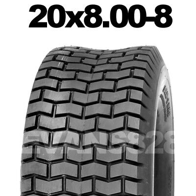 20x8.00-8 Ride On Lawn Mower Garden Tractor Turf Tyres Tyre & Tube Sets 20x800-8 • 35.99£