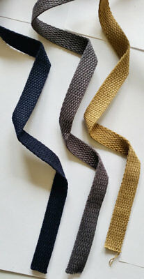 £3.49 • Buy 15MM 100% Cotton Canvas Webbing Bag Making Belting Sewing Fabric Strap Trimming