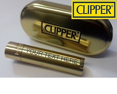 £10.95 • Buy CLIPPER Engraved GOLD Personalised Steel Metal Lighter Birthday Christmas Gift