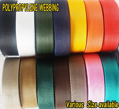 38mm Polypropylene Webbing Strapping Craft  Tape Various Colors Sizes Lengths • 2.86£