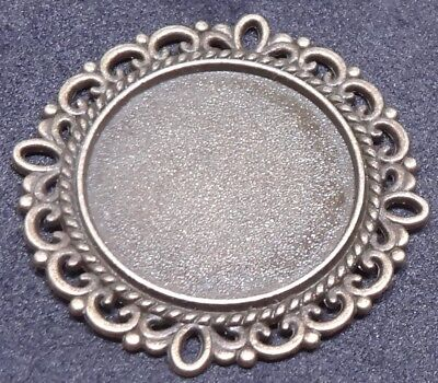 Bronze Round Charm Cabochon Base Cameo Settings Craft DIY  30x30mm Tray Fit 20mm • 0.99£