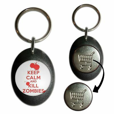 £3.99 • Buy Keep Calm And Kill Zombies - Plastic Shopping Trolley Key Ring Colour Choice New