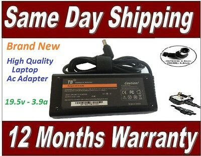 Sony Vaio VGP-AC19V33 Laptop Ac Power Adapter Charger 19.5V 3.9A Replacement • 17.99£