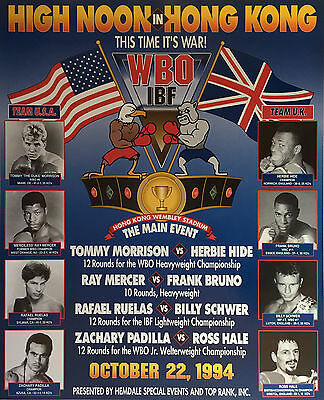 £3.63 • Buy TOMMY MORRISON Vs HERBIE HIDE 8X10 PHOTO BOXING POSTER PICTURE RAY MERCER BRUNO