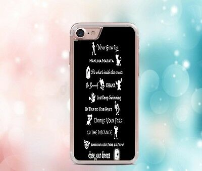 AU12.46 • Buy Disney Fan Characters Lessons Quote Phone Case Cover