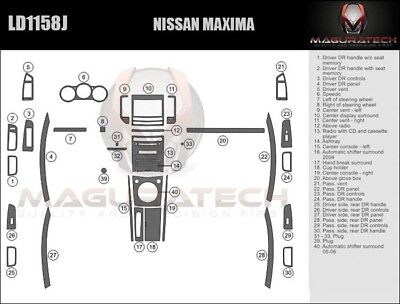 $206.55 • Buy Fits Nissan Maxima 2004-2006 With Manual Trans Large Wood Dash Trim Kit
