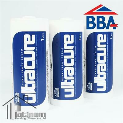 £49.50 • Buy ULTRACURE DPC Injection Cream 3 X 1L | Damp Proof Course Rising Damp Treatment