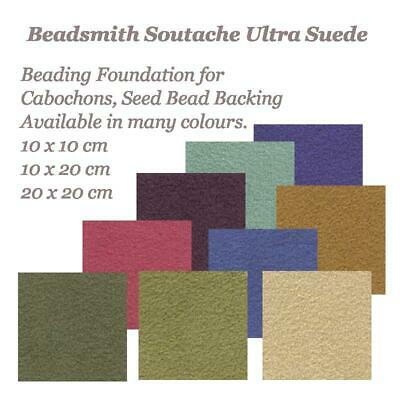 UltraSuede Soutache Beadsmith Beading Foundation Cabochon Backing Suede Fabric • 3.75£