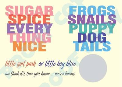 £3.90 • Buy GENDER REVEAL SCRATCH CARD Sugar Frogs Baby Shower Boy Girl Twins Pack Of 12