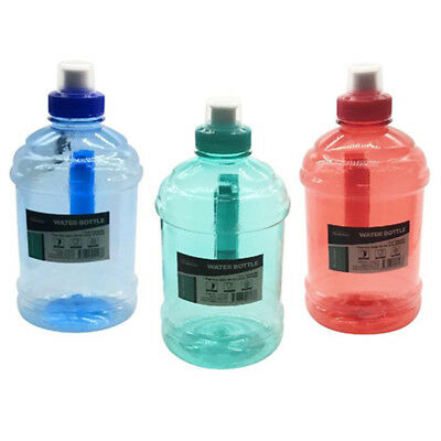 AU11.95 • Buy 1 Litre Liter Bpa Free Sports Water Bottle W Handle Gym Bike Training Drink Durm