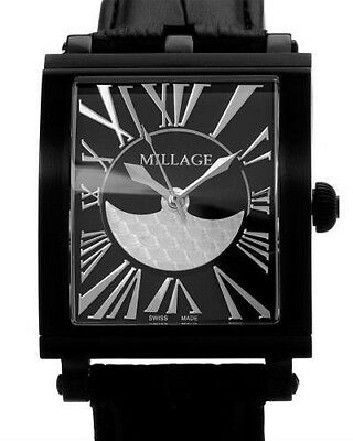 $1995.99 • Buy Millage The Evreux Collection Ml0073-B Black Calf Leather Swiss Men Watch