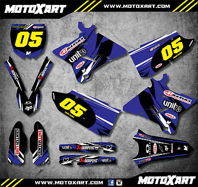 AU179.90 • Buy Full Custom Graphic Kit DIGGER STYLE Fits Yamaha YZ 250 2015 -2019 Stickers