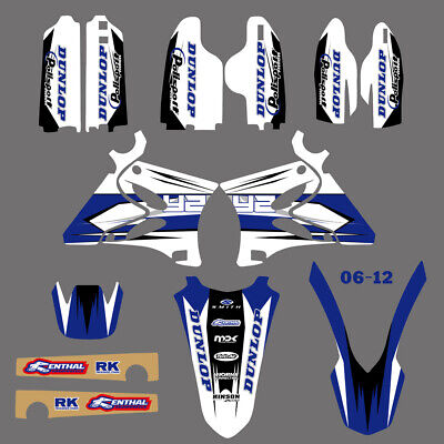 AU91.79 • Buy Vinyl Graphics Decals Stickers Kit For YAMAHA YZ125 YZ250 02 03 04 05 06 07-12