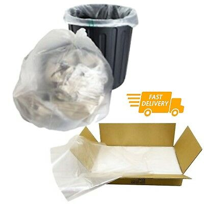 £7.93 • Buy Large CLEAR Refuse Sacks Bin Liner Rubbish Bags Thick 100g & 150g 18x29x39