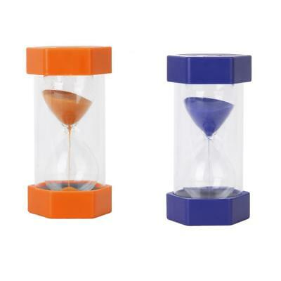 AU31.13 • Buy 1 Set Of 2 & 5 Mins HOURGLASS SAND TIMER Clock Kitchen Glass Orange & Blue