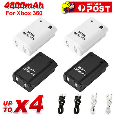 AU9.95 • Buy Rechargeable Battery + USB Charger Cable Pack For XBOX 360 Wireless Controller