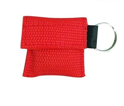 CPR Face Shield Mouth To Mouth Resuscitation Paramedic Medic Nurse EMT RED • 2.95£