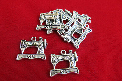 $2.25 • Buy 8pc  Sewing Machine  Charms In Antique Silver Style (BC119)