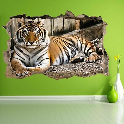 Tiger Wildlife Animal Wall Art Stickers Mural Decal Home Office Decor BS27 • 22.99£