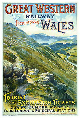 £6.94 • Buy Vintage Wales Gwr Railway A3 Poster Print