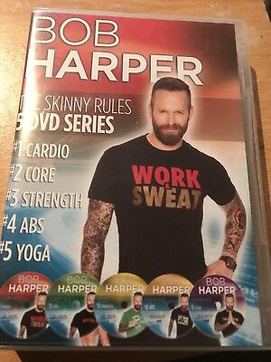Bob Harper The Skinny Rules 5 DVD Series Cardio Core Strength Abs Yoga  UK Reg2 • 99.95£