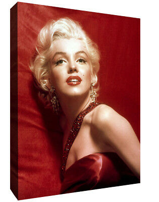 £11.49 • Buy Marilyn Monroe Glamour Red Canvas Wall Art Pictures Movie Stars