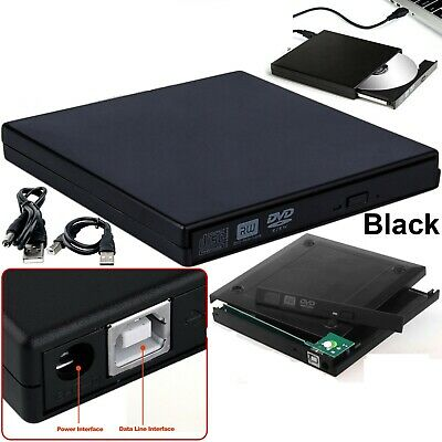 £8.97 • Buy Black USB 2.0 To IDE Laptop CD DVD RW External Drive Caddy Enclosure Case Cover