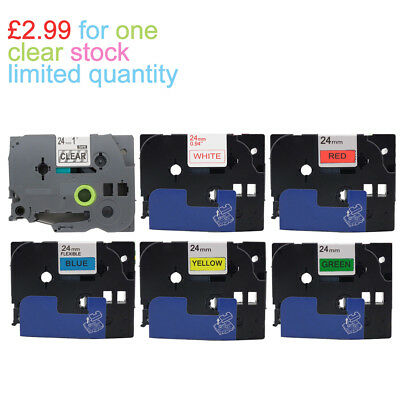 COMPATIBLE LABEL TAPE Fits BROTHER 12mm 18mm 24mm P-TOUCH PT- GL- Printers • 4.01£