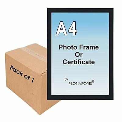 £3.99 • Buy A4 Certificate Photo Frame Plastic Front Wall Mounting Clip Stand Various Colour