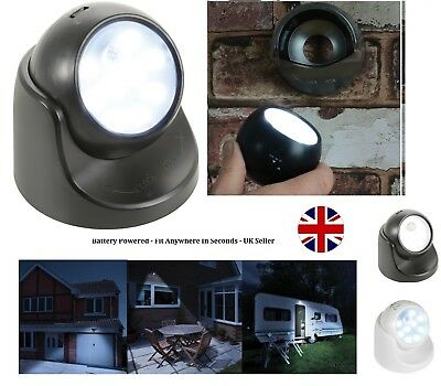 360° Battery Motion Sensor Security LED Light TORCH | Garden Outdoor Indoor PIR. • 10.99£