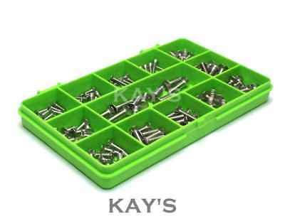 £7.81 • Buy Slotted Countersunk Machine Screws A2 Stainless M3 M4 M5 Assorted 100 Piece Kit