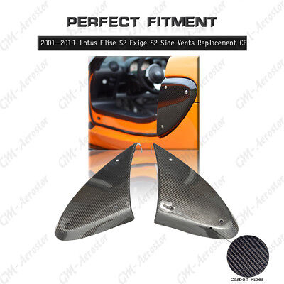 $ CDN205 • Buy Carbon Fiber Side Vents Replacement For 2001-2011 Lotus Elise S2 Exige S2