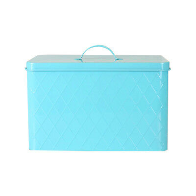 $31.49 • Buy Home Basics Tin Argyle Handle Top Bread Box Turquoise