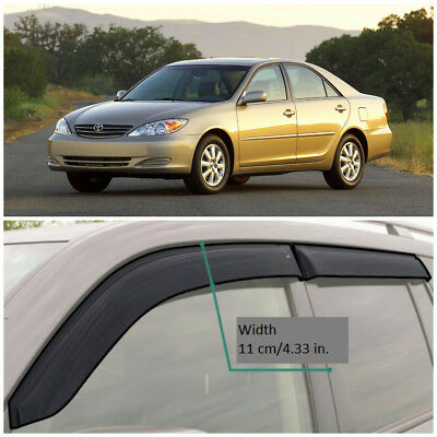 $99.90 • Buy TE20602 Window Visors Sun Guard Vent Wide Deflectors For Toyota Camry 2002-2005