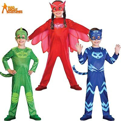 PJ Masks Costume Boys Girls Superhero Kids Child Fancy Dress OFFICIAL UK Outfit • 16.99£