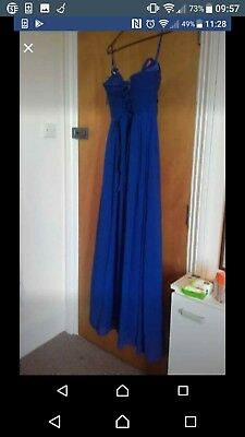 £180 • Buy Blue Prom/evening Dress With A Corsette On The Back