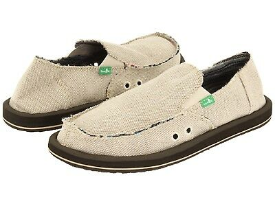 Men's Shoes Sanuk HEMP Slip On Loafers Sidewalk Surfers SMF1010 NATURAL  • 37.88£