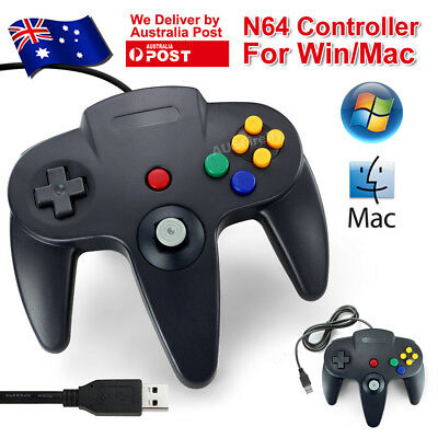 AU24.95 • Buy New Nintendo 64 N64 Games Classic Gamepad Controllers For Usb To Pc/mac